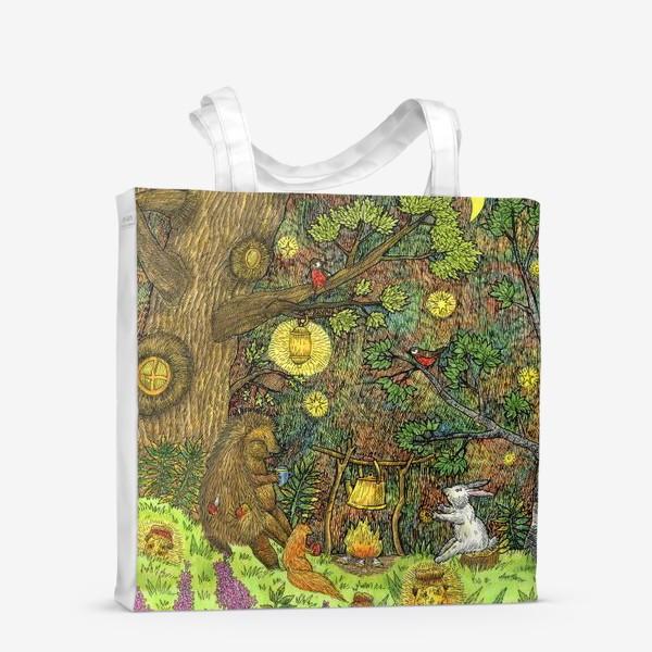 Сумка-шоппер «Привал в лесу»