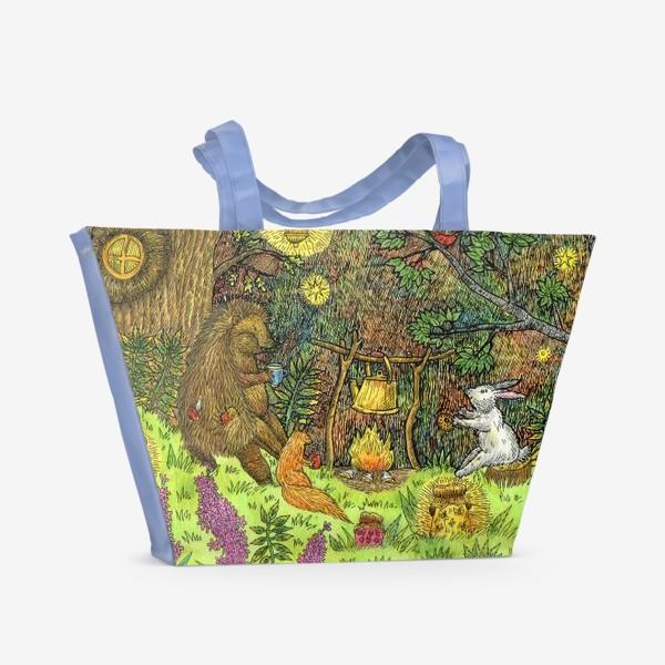 Пляжная сумка «Привал в лесу»