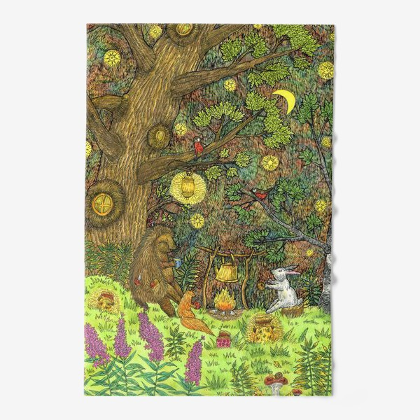 Полотенце «Привал в лесу»