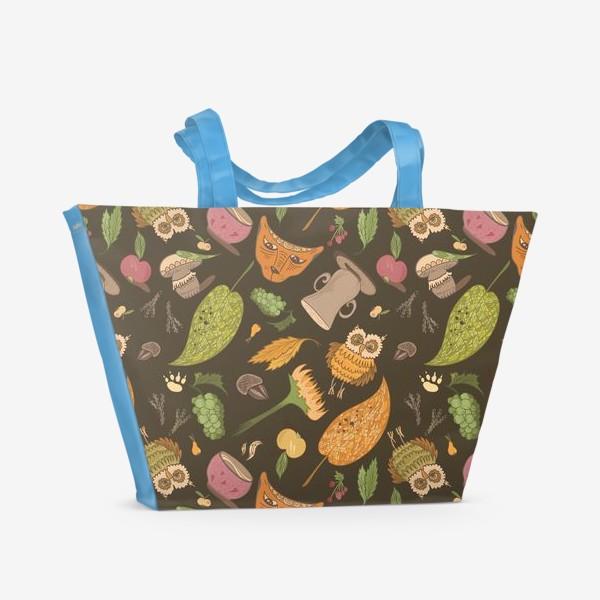Пляжная сумка «Уютная осень»