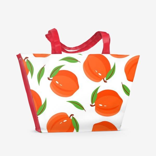 Пляжная сумка «Персики»