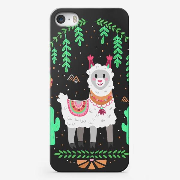 Чехол iPhone «Funny lama»