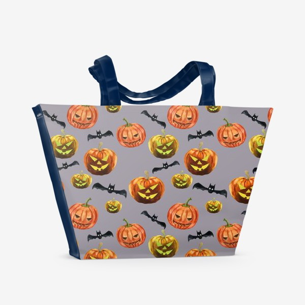 Пляжная сумка «темная ночь Хеллоуина»