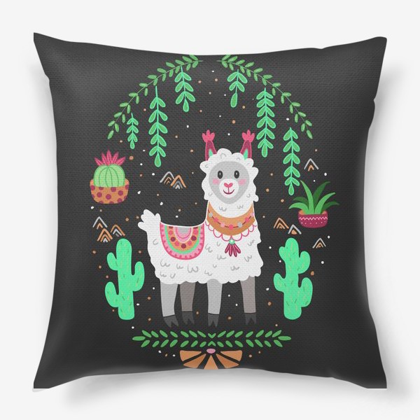 Подушка «Funny lama»