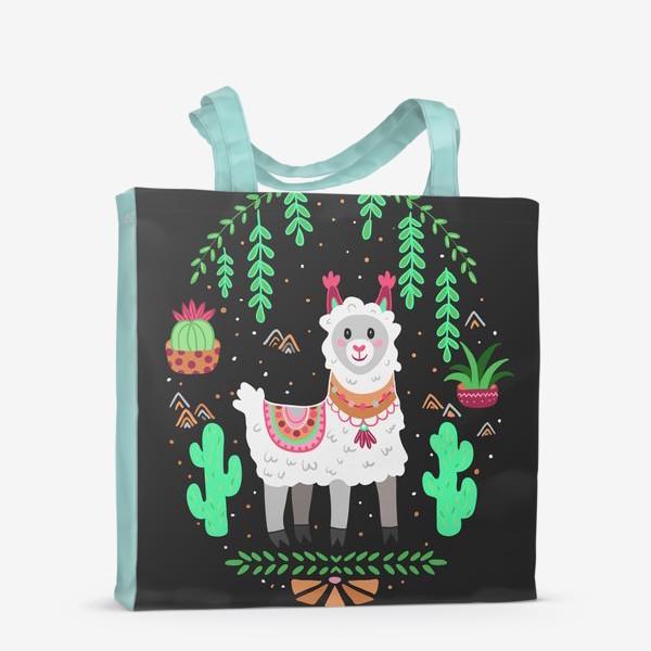 Сумка-шоппер «Funny lama»