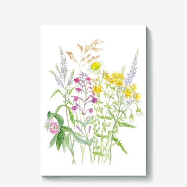 Холст «Букет полевых цветов»