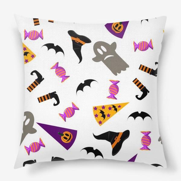 Подушка «Паттерн Хэллоуин. »