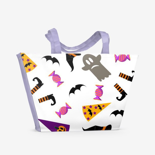 Пляжная сумка «Паттерн Хэллоуин. »