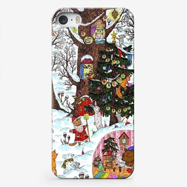 Чехол iPhone «Лес чудес зима»