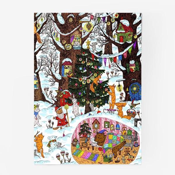 Постер «Лес чудес зима»