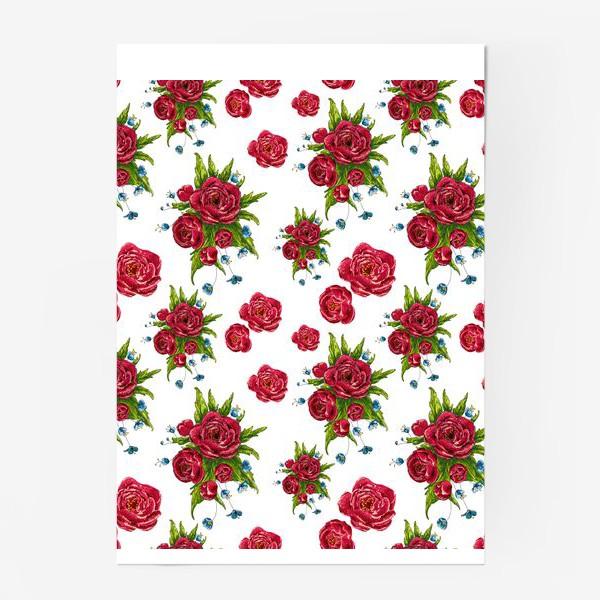Постер «красные цвето4ки»