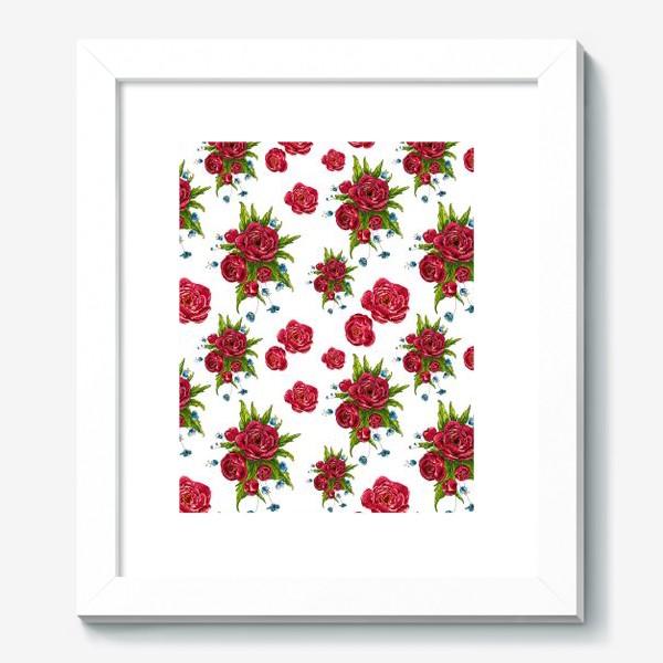 Картина «красные цвето4ки»