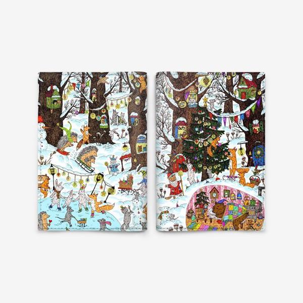 Обложка для паспорта «Лес чудес зима»
