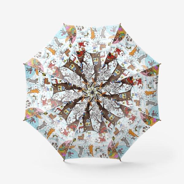 Зонт «Лес чудес зима»