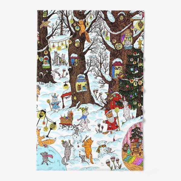 Полотенце «Лес чудес зима»