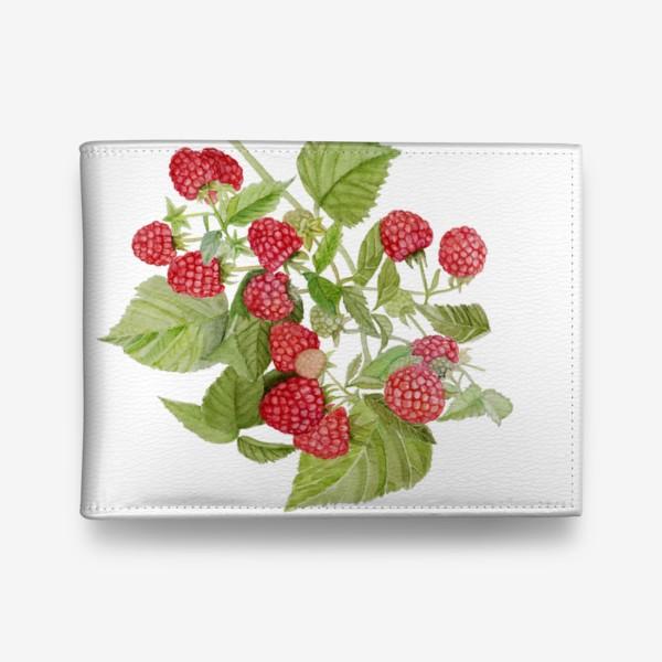 Кошелек «Watercolor illustration of red raspberry Bush.»