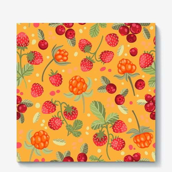Холст «Яркие лесные ягоды»