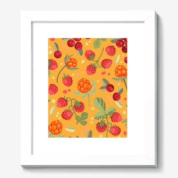 Картина «Яркие лесные ягоды»