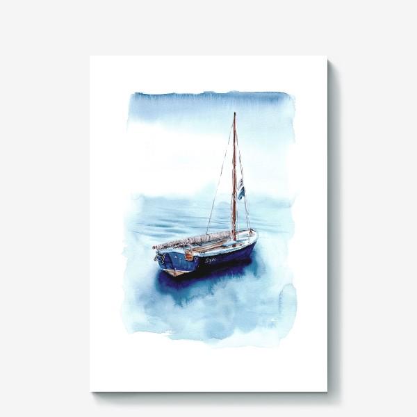 Холст «Лодка уходит в море»