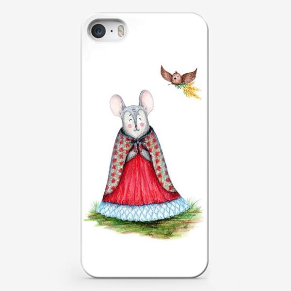 Чехол iPhone «Мышка и птица»