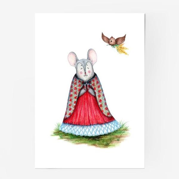 Постер «Мышка и птица»