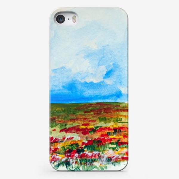 Чехол iPhone «Маковое поле»