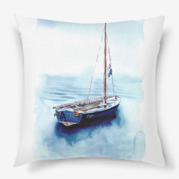 Подушка «Лодка уходит в море»