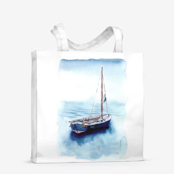 Сумка-шоппер «Лодка уходит в море»