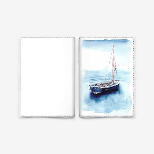 Обложка для паспорта «Лодка уходит в море»
