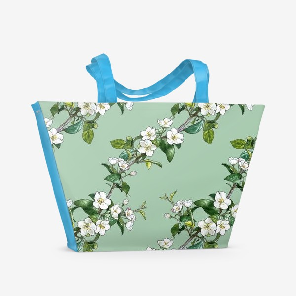 Пляжная сумка «яблоневый паттерн»