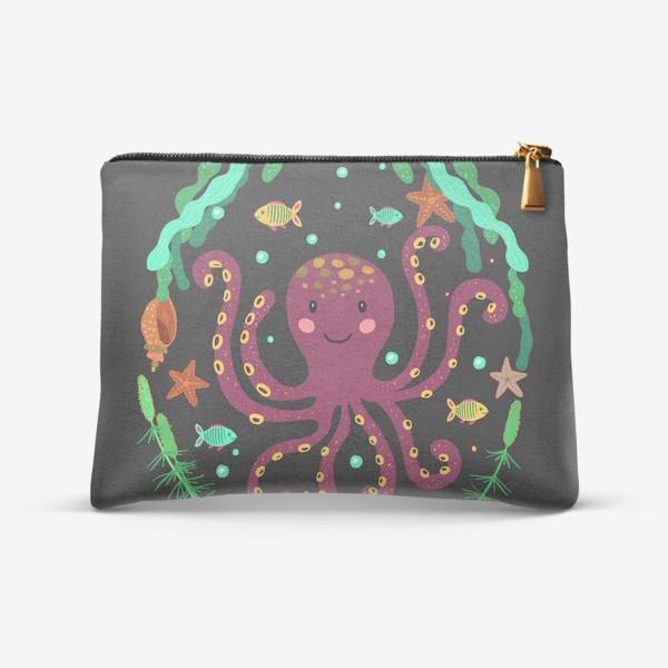 Косметичка «Фиолетовый осьминог»