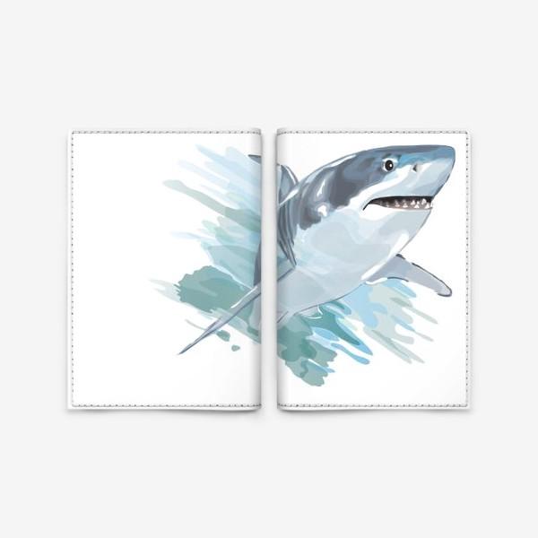 Обложка для паспорта «акула»