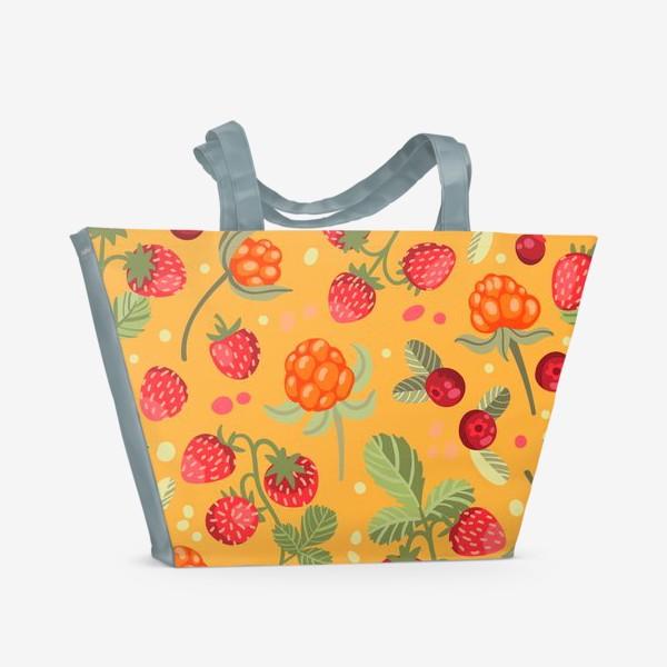 Пляжная сумка «Яркие лесные ягоды»