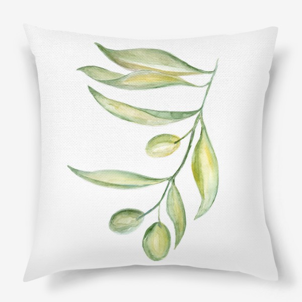 Подушка «Оливковая ветвь. Сила природы.»