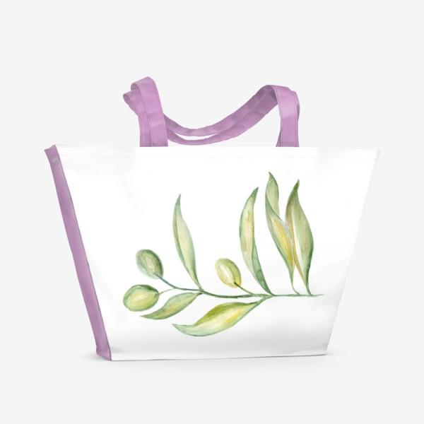 Пляжная сумка «Оливковая ветвь. Сила природы.»