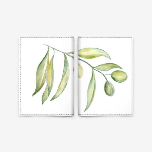 Обложка для паспорта «Оливковая ветвь. Сила природы.»