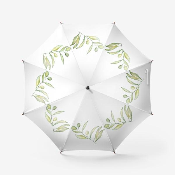 Зонт «Оливковая ветвь. Сила природы.»