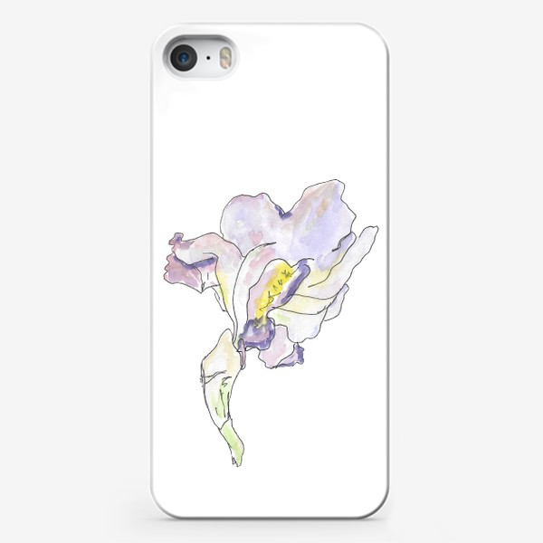 Чехол iPhone «Ирис. Красота в каждой линии.»