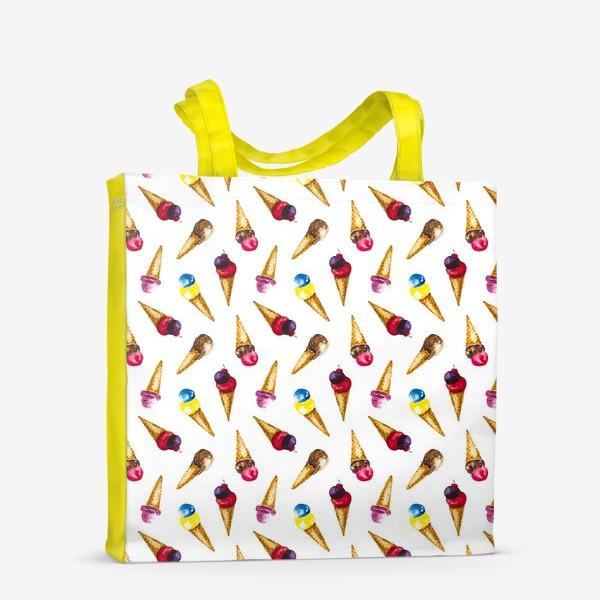 Сумка-шоппер «Фруктовое мороженое коллаж»