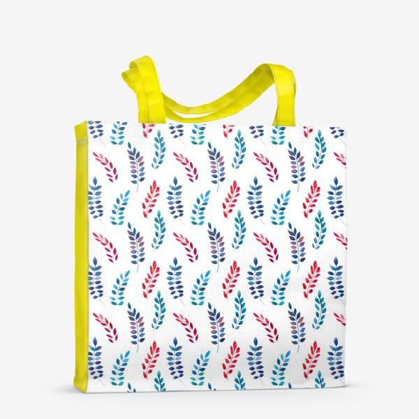 Сумка-шоппер «Разноцветные акварельные веточки»