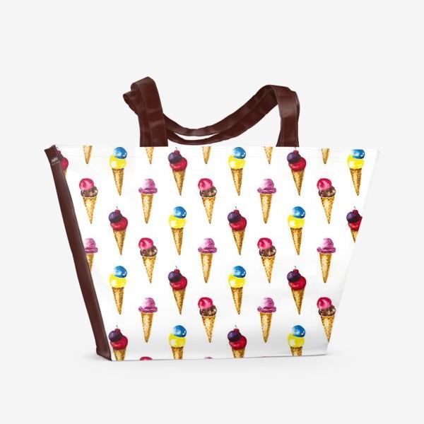Пляжная сумка «Сладкое мороженое»