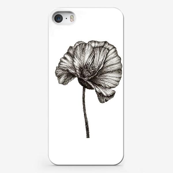 Чехол iPhone «Цветок мака графика»