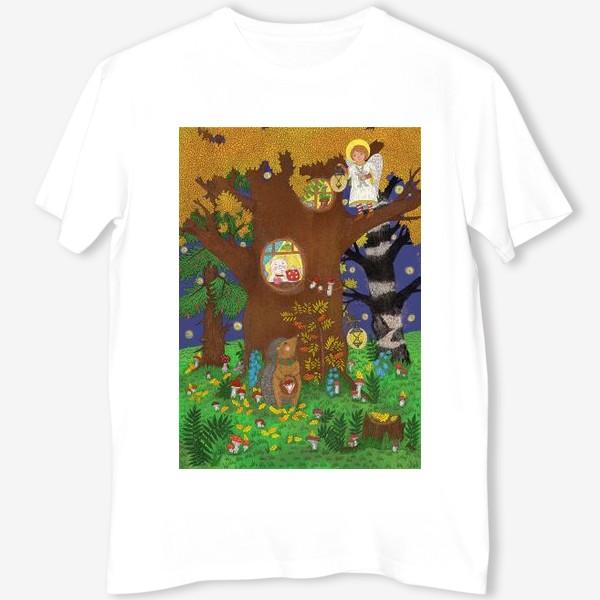 Футболка «Маленький ёжик в сказочном лесу»
