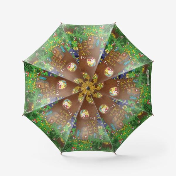 Зонт «Маленький ёжик в сказочном лесу»