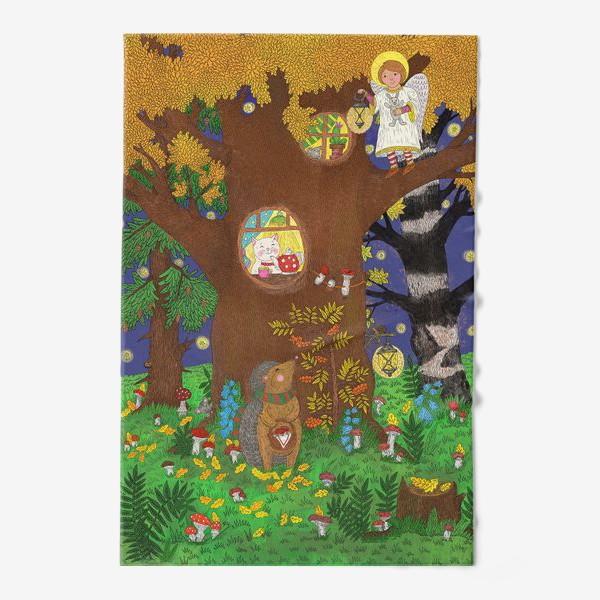 Полотенце «Маленький ёжик в сказочном лесу»
