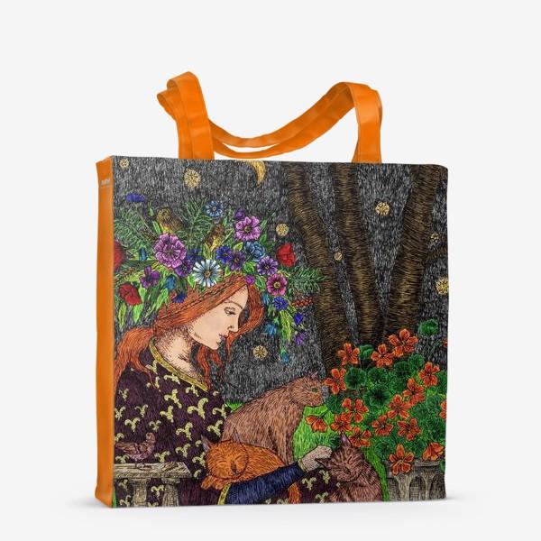 Сумка-шоппер «Летняя ночь в старом саду»