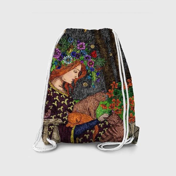 Рюкзак «Летняя ночь в старом саду»