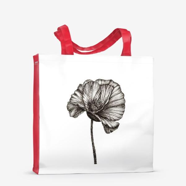 Сумка-шоппер «Цветок мака графика»