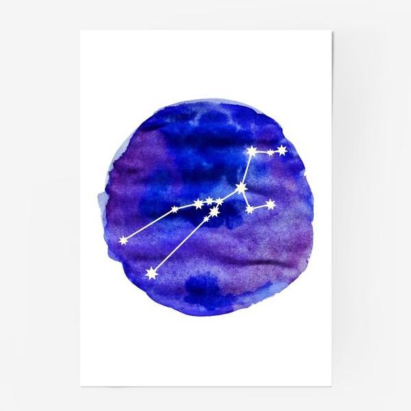 Постер «Телец. Акварель»