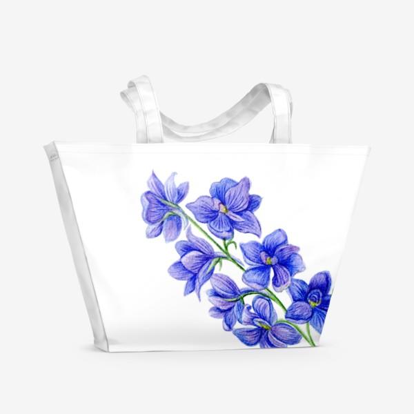 Пляжная сумка «Дельфиниум»